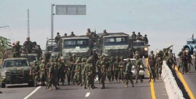 Resultado de imagen para ejército en las calles méxico