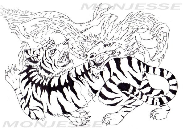 Chinese Tiger Drawing At Getdrawingscom Free For Personal Use