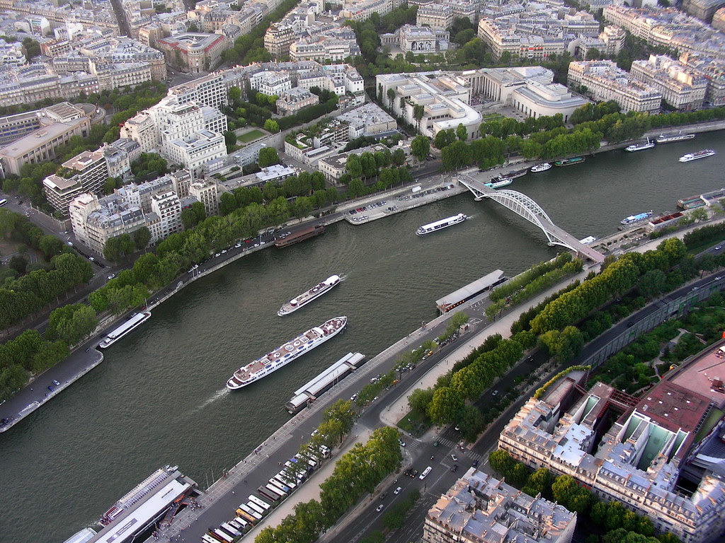 River Siene, from Eiffel tower