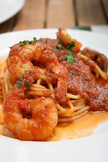 Pasta Arrabiata di Mare (S$14.80): spaghetti in spicy seafood tomato sauce