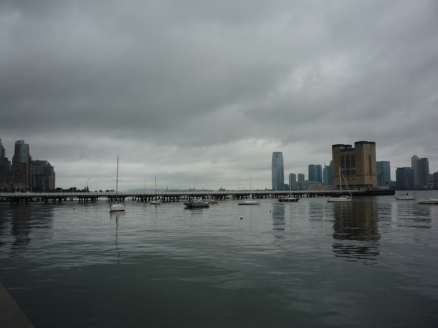 Calm waters, overcast skies, Hudson River