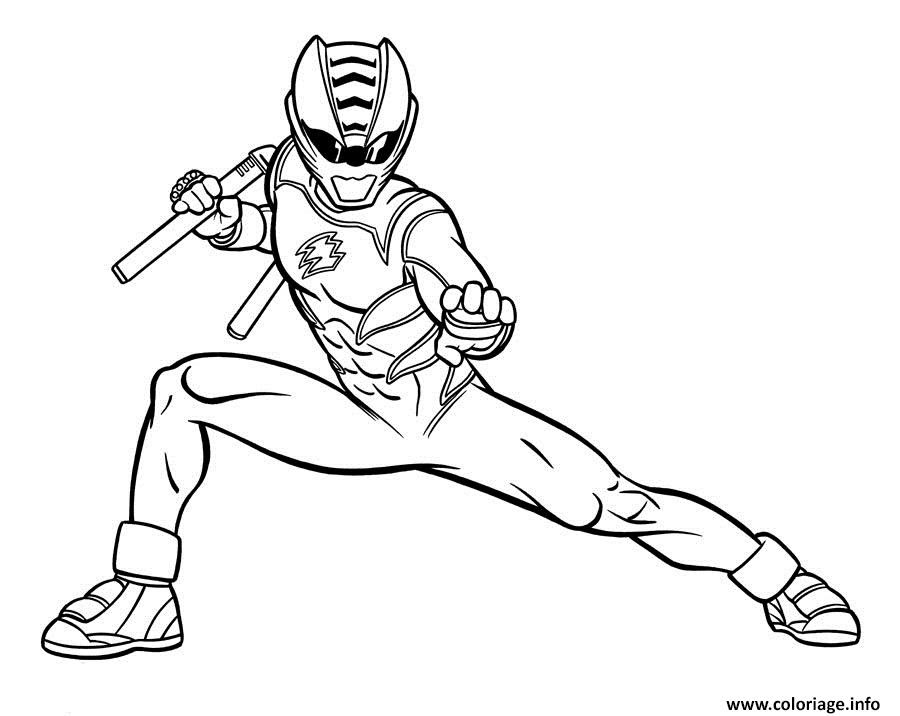 Coloriage Power Rangers Jungle Fury Jecoloriecom