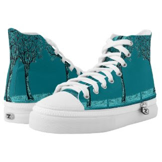 Sketch My Trees Dude Design on Shoes Printed Shoes