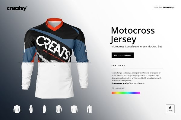 Download Motocross Jersey Mockup Set PSD Template