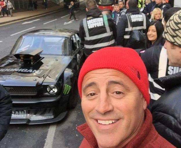 Matt LeBlanc at Canary Wharf
