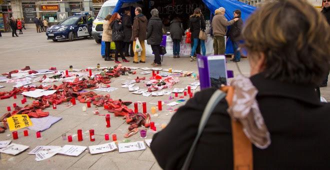 8 mujeres continúan en huelga de hambre por la violencia machista. CHRISTIAN GONZÁLEZ