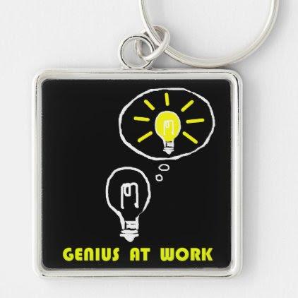 Genius at work keychain