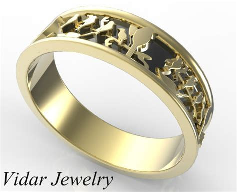 Leaves Wedding Band   Vidar Jewelry   Unique Custom