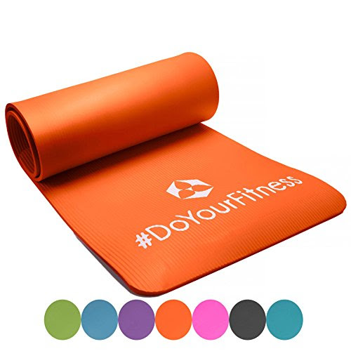 »Yogini« 1 cm fitness mat / soft, perfect for Pilates, aerobics and yoga / dimensions: 183 x 61 x 1 cm / orange