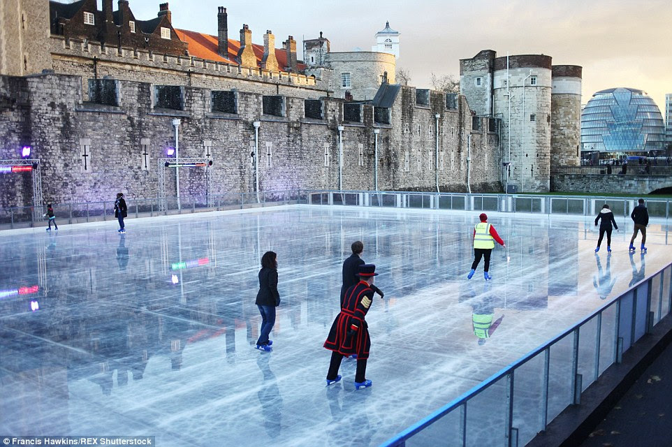 Christmas Ice Skating London.All About London Tower Of London Ice Rink Opens For
