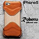 Roberu ( ロベル ) iPhone5 専用 レザーケース ヌメ ( キャメル )