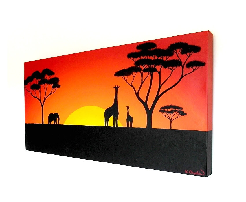 Canvas Giraffe Painting Ideas