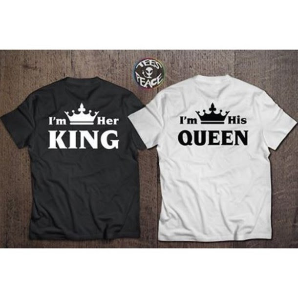 T Shirt Tees2peace Jaime King King And Queen Queen Chritmas