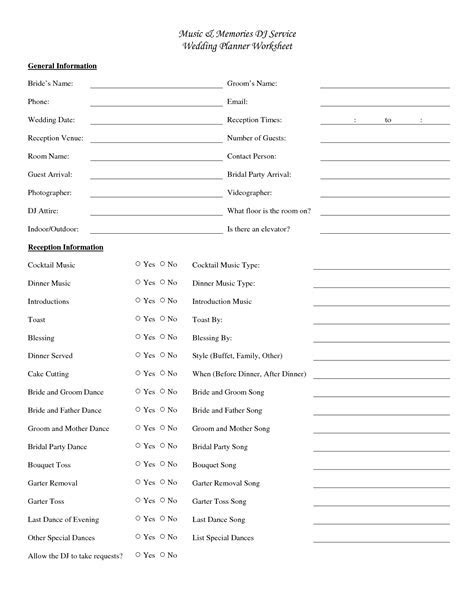 wedding dj checklist   Music   Memories DJ Service Wedding