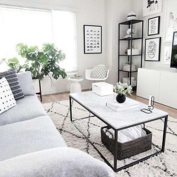 Wohnzimmer ideen weiss grau