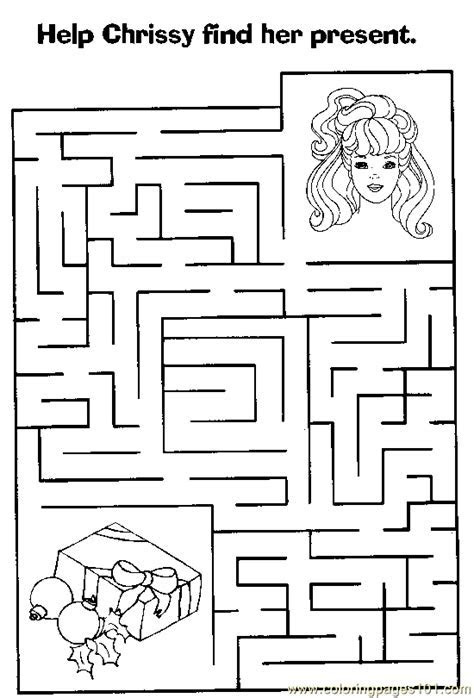 Maze 53 Coloring Page   Free Mazes Coloring Pages