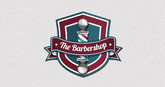 the barbershop l1 30 Creative Ribbon Logo Designs