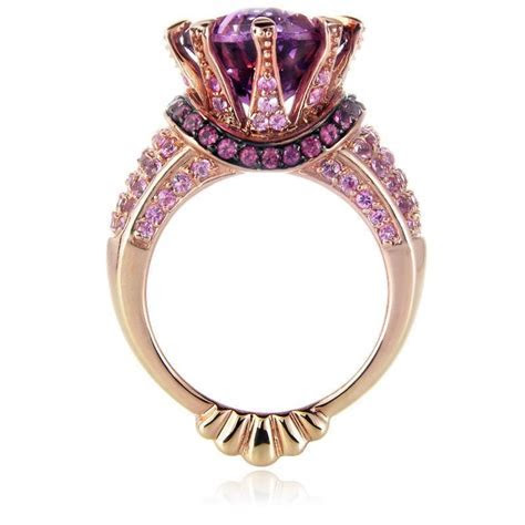 7.13ct Le Vian Amethyst 14k Rose Gold and Black Rhodium