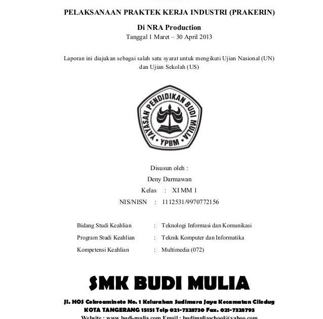 Contoh Laporan Praktek Industri Di Bengkel Contoh Aneka