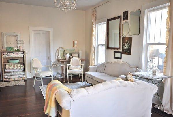 Vintage Whites Blog: Vanessa's Home Renovation: Living Room Before & After!
