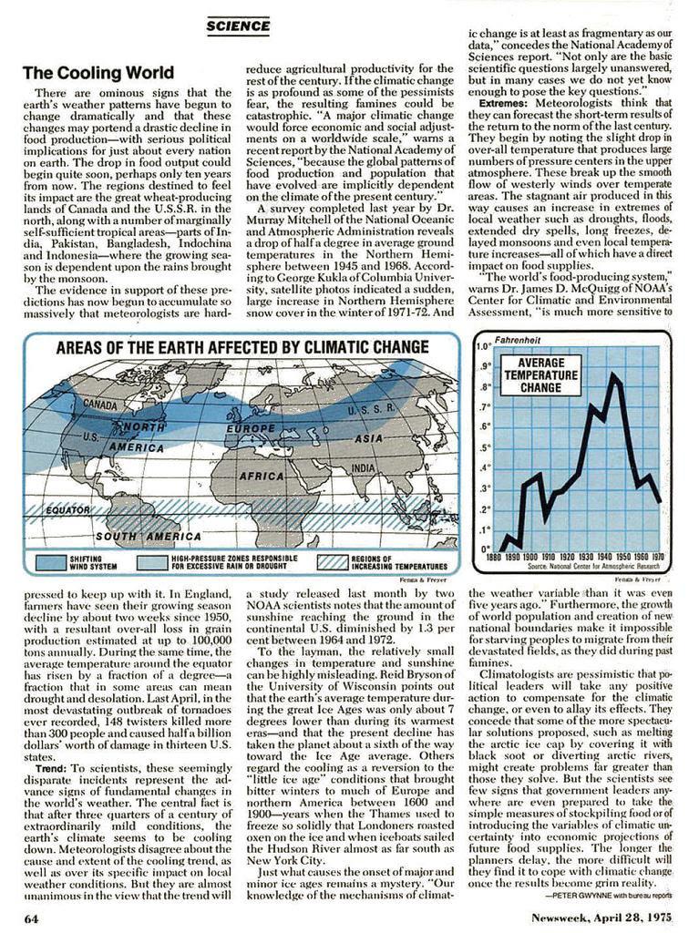 Newsweek article on global cooling
