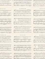 STANDARD size JPG Christmas Sheet Music LIGHT with distressing Vintage GF 350dpi