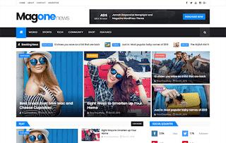 MagOne News Blogger Template