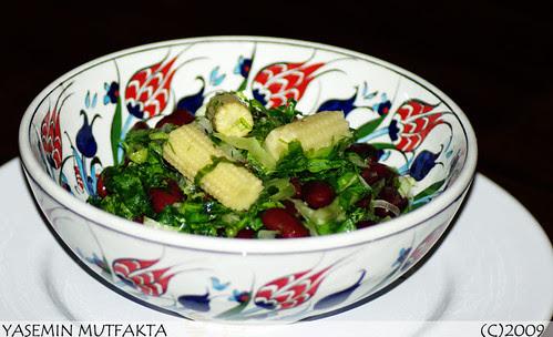 Meksika Fasulyeli Yeşil Salata