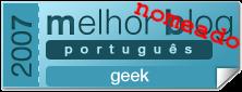 Nominated as Best Portuguese Geek Blog