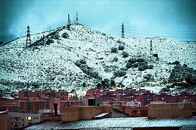 Snowing in Barcelona [enlarge]