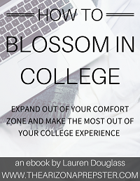 How to Blossom in College Ebook Cover