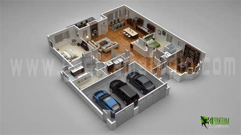 modern home  parking slot view