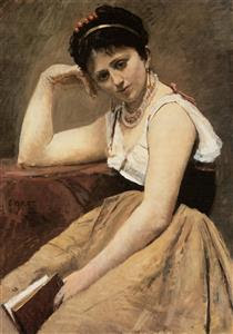 Interrupted Reading - Camille Corot