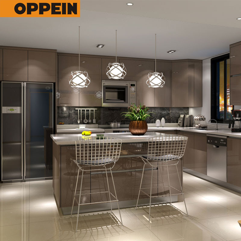 American Project High Gloss Pvc Modular Kitchen Unit Cabinet Designs View Kitchen Cabinet Oppein Product Details From Oppein Home Group Inc On Alibaba Com