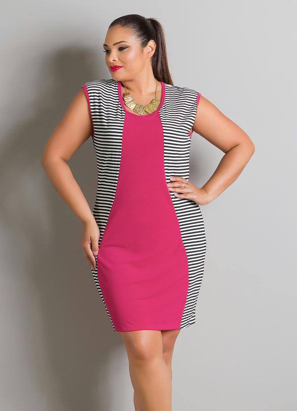 Vestido Tubinho (Pink e Listrado)