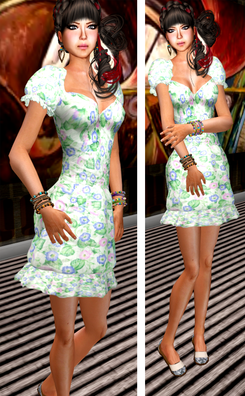 NEW! SHIKI-Floral Dress SUMMER FIELD