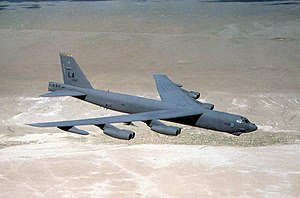 The B-52 Stratofortress, a heavy bomber.