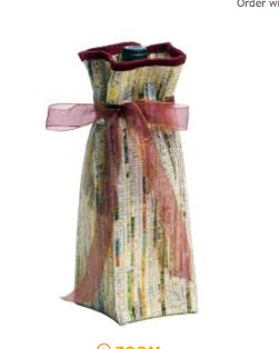recycled newspaper bag