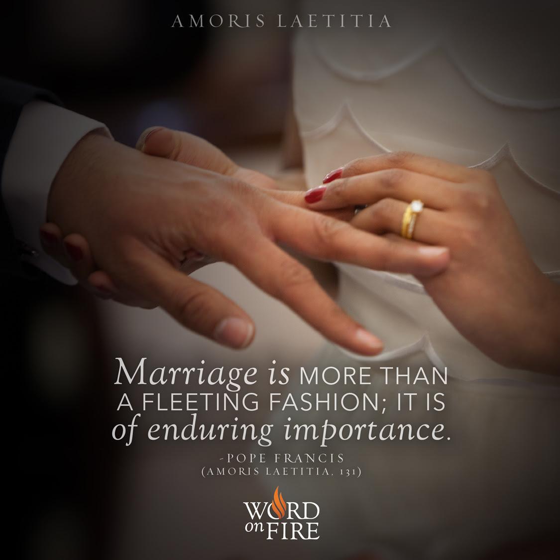 Prayergraphicscom Amoris Laetitia Marriage Is More Than A