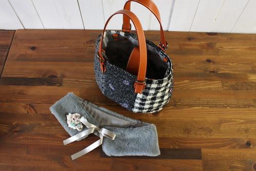 tweed bag_with fur