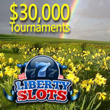 April Shower of Cash at Liberty Slots Awards 30K in Slots Tournament Prizes