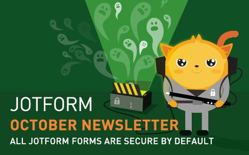 Visual: JotForm October Newsletter