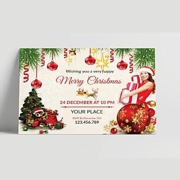 contoh undangan natal sederhana : suasana sederhana dan