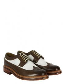 Grenson Sid Brown & White Shoes