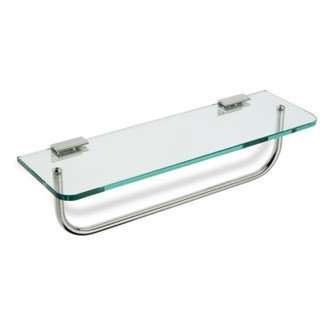 Bathroom Shelf With Towel Bar Brushed Nickel Goodworksfurniture