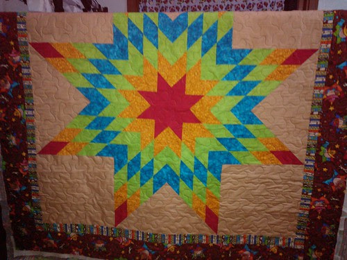 Lone star quilt - Finished qi