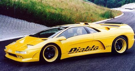View of Lamborghini Diablo GT 1 Affolter Evolution. Photos, video, features and tuning of
