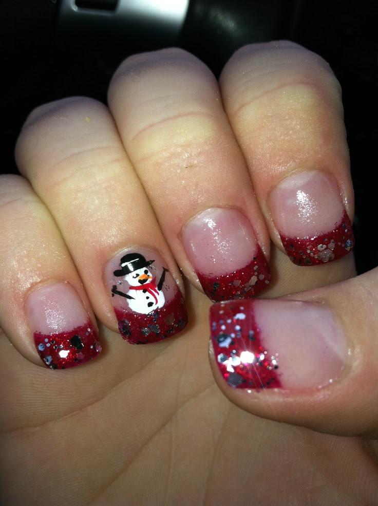 Christmas nail decorations!! | Make-up and Nails | Pinterest - Christmas Decoration Nails Christmas Ideas