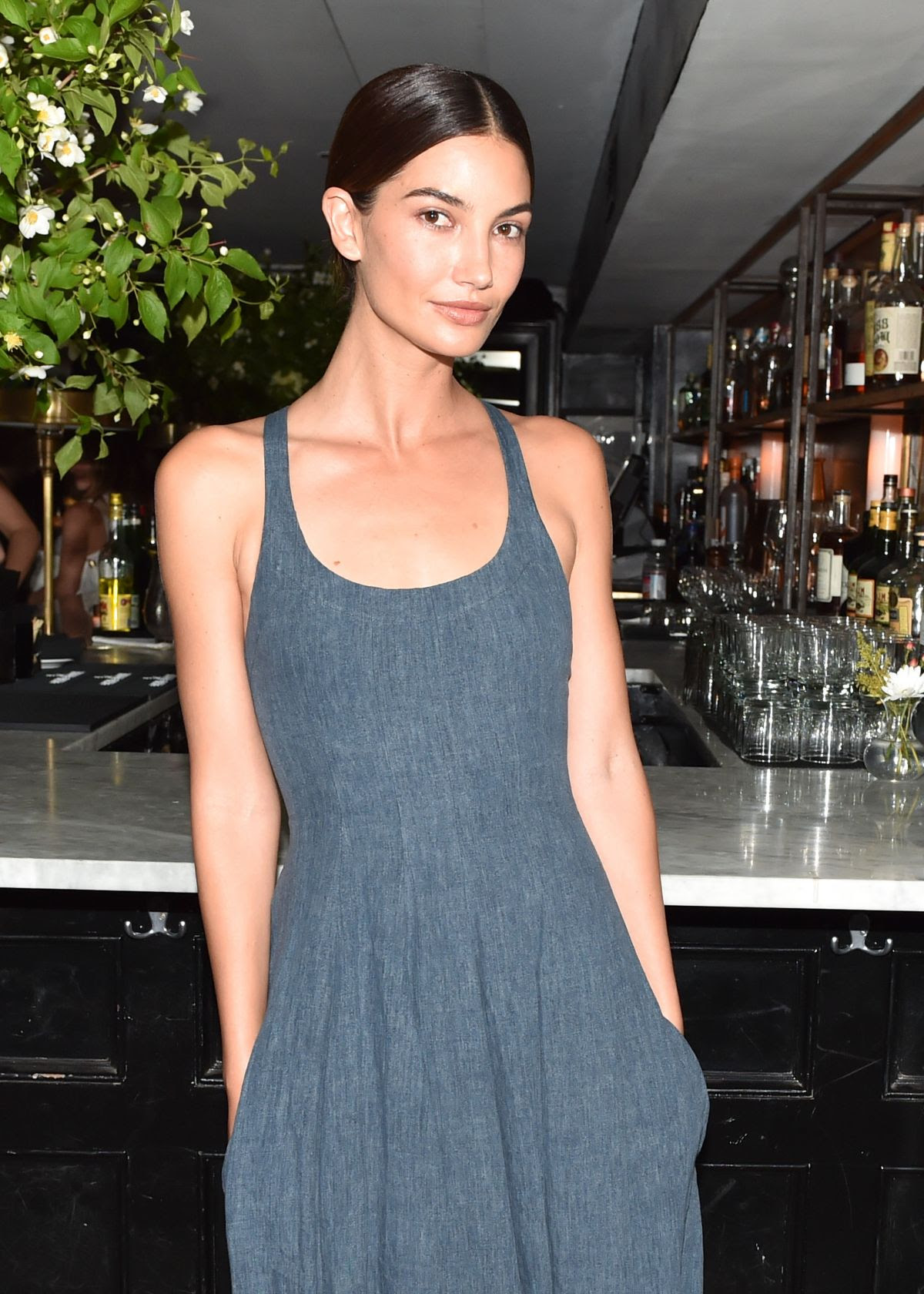 LILY ALDRIDGE at Refinery29, cfda & Neiman Marcus Celebrate Tabitha Simmons in New York