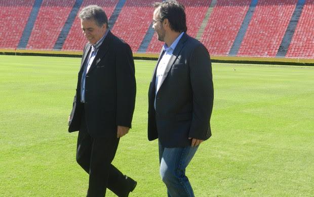 Amistoso entre Flamengo e SPFC em Uberlândia (Foto: Caroline Aleixo/GLOBOESPORTE.COM)